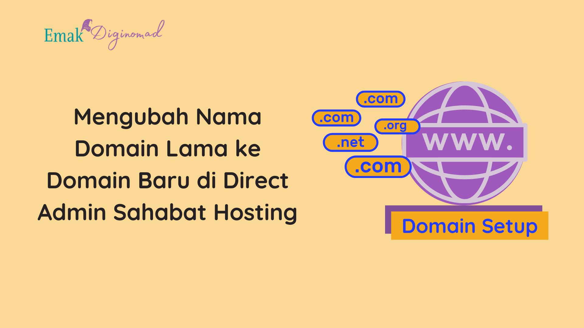 Mengubah domain lama ke domain terbaru